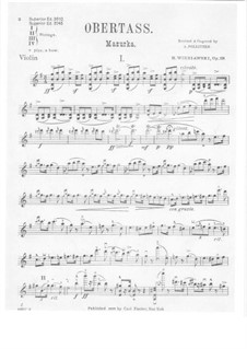 Zwei Mazurkas, Op.19: Mazurka Nr.1 Obertas – Solo Stimme by Henryk Wieniawski