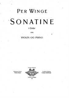 Sonatine für Violine und Klavier: Partitur by Per Winge