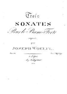 Drei Sonaten für Klavier, Op.33 No.1: Sonate Nr.2 by Joseph Wölfl
