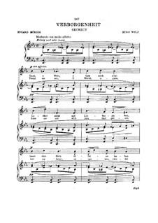 Mörike Lieder: Verborgenheit by Hugo Wolf