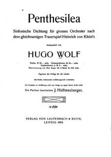 Penthesilea. Sinfonische Dichtung: Vollpartitur by Hugo Wolf