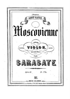 Moscovienne, Op.12: Partitur by Pablo de Sarasate