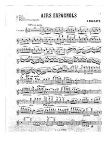 Spanische Arien, Op.18: Solostimme by Pablo de Sarasate