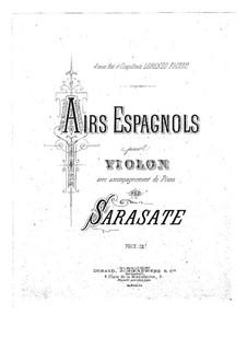 Spanische Arien, Op.18: Partitur by Pablo de Sarasate