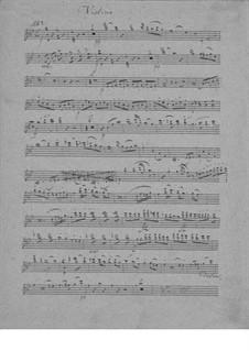 Klaviertrio in B-Dur, D.28: Violinstimme by Franz Schubert