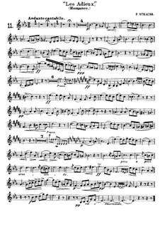 Les Adieux für Waldhorn und Klavier: Solostimme by Franz Strauss
