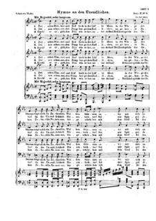 Hymne an den Unendlichen, D.232 Op.112 No.3: Hymne an den Unendlichen by Franz Schubert