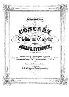 Violinkonzert in A-Dur, Op.6: Version für Violine und Klavier – Solo Stimme by Johan Svendsen