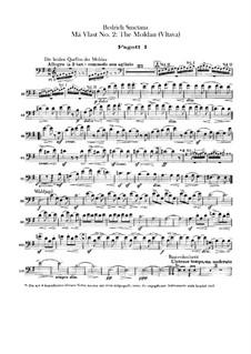 Vltava (Die Moldau), T.111: Fagottstimme by Bedřich Smetana