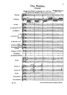 Vltava (Die Moldau), T.111: Vollpartitur by Bedřich Smetana