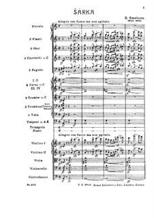 Šarka, T.113: Vollpartitur by Bedřich Smetana