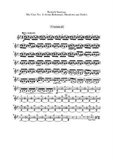 Aus Böhmens Hain und Flur, T.114: Violinstimme II by Bedřich Smetana