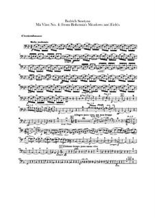 Aus Böhmens Hain und Flur, T.114: Kontrabass-Stimme by Bedřich Smetana