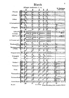 Blanik, T.121: Vollpartitur by Bedřich Smetana
