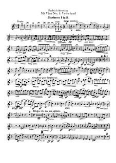 Vyšehrad, T.110: Klarinettenstimmen by Bedřich Smetana