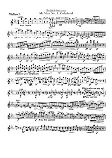 Vyšehrad, T.110: Violinstimme I by Bedřich Smetana