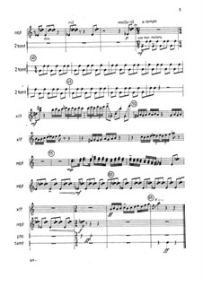 Music for Viola, Percussion and Piano: Viola and Percussion parts by Nancy Van de Vate