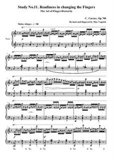 Die Kunst der Fingerfertigkeit, Op.740: Übung Nr.11 by Carl Czerny