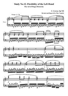 Die Kunst der Fingerfertigkeit, Op.740: Übung Nr.12 by Carl Czerny