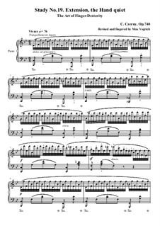 Die Kunst der Fingerfertigkeit, Op.740: Übung Nr.19 by Carl Czerny