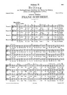 Beitrag zur fünfzigjährigen Jubelfeier des Herrn Salieri, D.407: Beitrag zur fünfzigjährigen Jubelfeier des Herrn Salieri by Franz Schubert