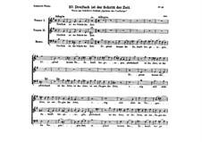 Dreifach ist der Schritt der Zeit, D.43: Dreifach ist der Schritt der Zeit by Franz Schubert
