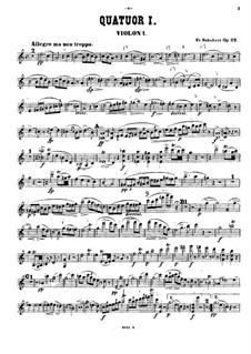 Streichquartett Nr.13 in a-Moll 'Rosamunde', D.804 Op.29: Violinstimme I by Franz Schubert
