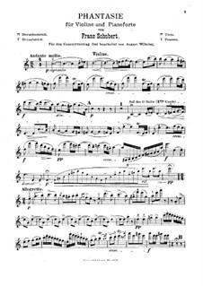 Fantasie für Violine und Klavier in C-Dur, D.934 Op.159: Solostimme by Franz Schubert