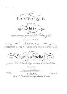 Fantasie für Flöte und Klavier, Op.24: Fantasie für Flöte und Klavier by Karol Scholl