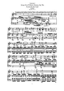 Lieder aus 'Wilhelm Meister', Op.98a: Vollsammlung by Robert Schumann