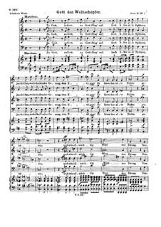 Gott der Weltschöpfer, D.986 Op.112 No.2: Gott der Weltschöpfer by Franz Schubert