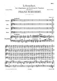 Lebenslust, D.609: Lebenslust by Franz Schubert