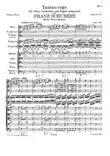 Tantum ergo in C-Dur, D.460: Tantum ergo in C-Dur by Franz Schubert