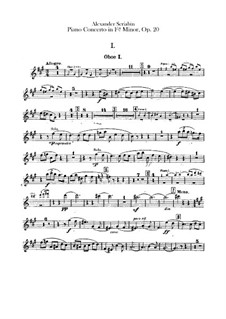 Konzert für Klavier und Orchester in fis-Moll, Op.20: Oboenstimmen by Alexander Skrjabin