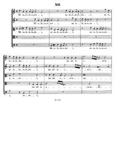 Italian Madrigals, Op.1: No.12 Mi saluta costei, SWV 012 by Heinrich Schütz