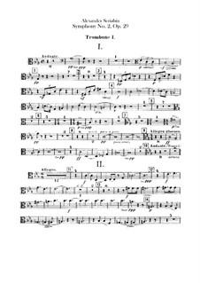 Sinfonie Nr.2 in c-Moll, Op.29: Posaune- und Tubastimmen by Alexander Skrjabin