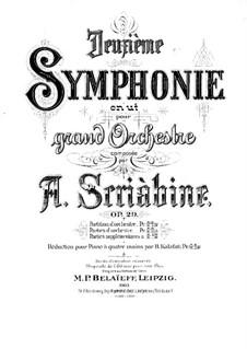 Sinfonie Nr.2 in c-Moll, Op.29: Teile I-II by Alexander Skrjabin