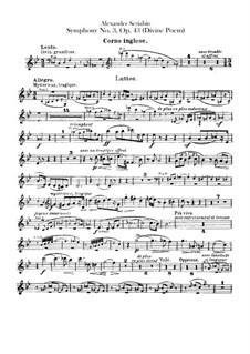 Sinfonie Nr.3 in c-Moll 'Le divin poème', Op.43: Englischhornstimme by Alexander Skrjabin