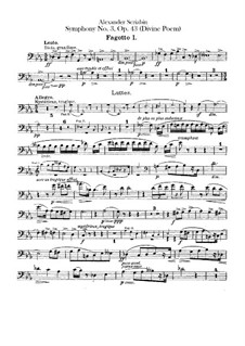 Sinfonie Nr.3 in c-Moll 'Le divin poème', Op.43: Fagottstimme by Alexander Skrjabin