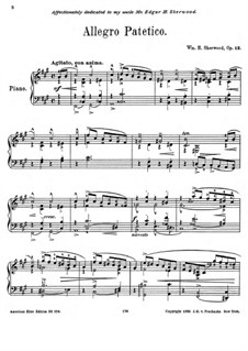 Allegro Patetico, Op.12: Allegro Patetico by William H. Sherwood