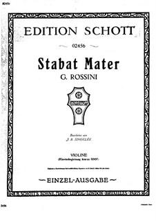 Fantasie über Themen aus 'Stabat Mater' von Rossini, Op.134: Solostimme by Jean Baptiste Singelée