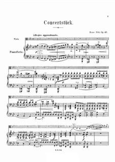 Konzertstück in g-Moll, Op.46: Bearbeitung für Viola und Klavier by Hans Sitt