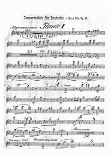 Konzertstück in g-Moll, Op.46: Flötenstimme by Hans Sitt