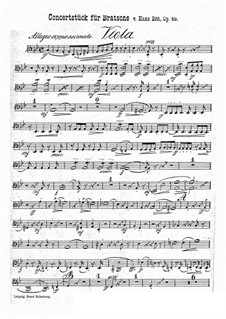 Konzertstück in g-Moll, Op.46: Violastimme by Hans Sitt