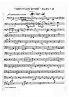 Konzertstück in g-Moll, Op.46: Cellostimme by Hans Sitt