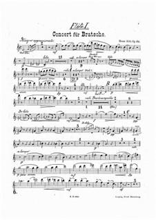 Konzert für Bratsche und Orchester in a-Moll, Op.68: Flötenstimme by Hans Sitt