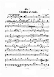 Konzert für Bratsche und Orchester in a-Moll, Op.68: Oboenstimmen by Hans Sitt