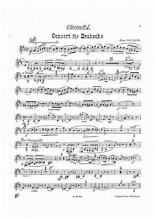Konzert für Bratsche und Orchester in a-Moll, Op.68: Klarinettenstimmen by Hans Sitt