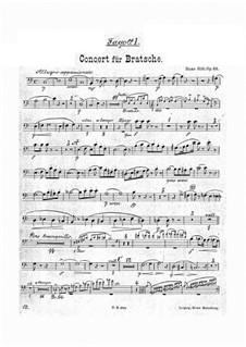 Konzert für Bratsche und Orchester in a-Moll, Op.68: Fagottstimme by Hans Sitt