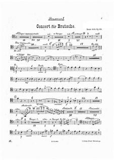 Konzert für Bratsche und Orchester in a-Moll, Op.68: Posaunenstimmen by Hans Sitt